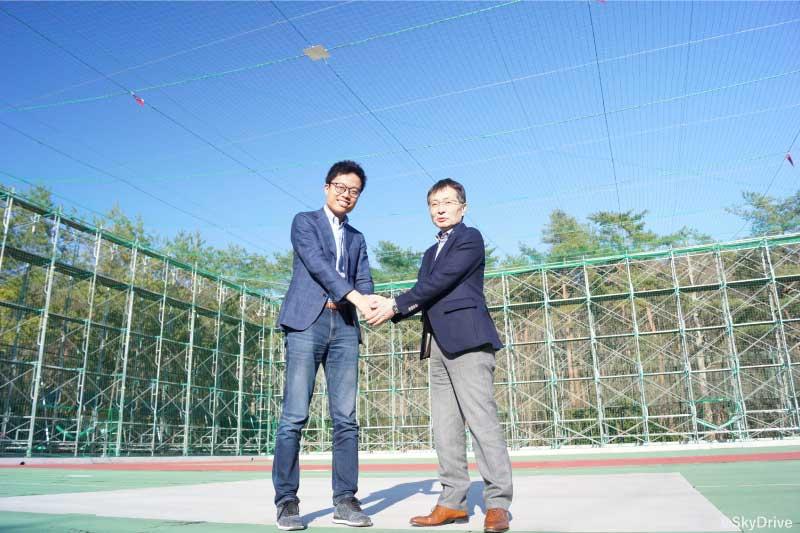 SkyDrive Left:President _Fukuzawa, Right:CTO_Kishi